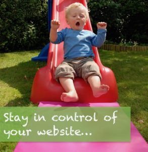 Be in control of your website